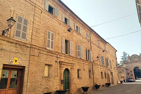 an old italian brick house