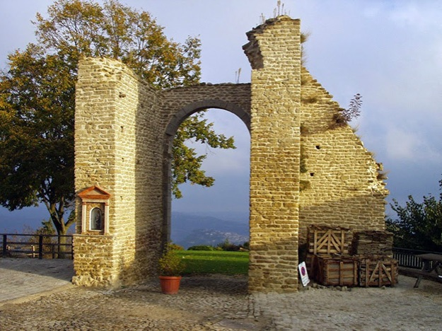 a stone gate